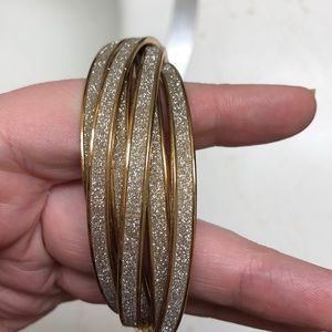 Gold Sparkly Bangles